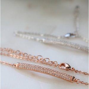 Cubic zirconia bar bracelet